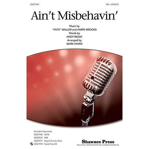Shawnee Press Ain't Misbehavin' SSA by Thomas