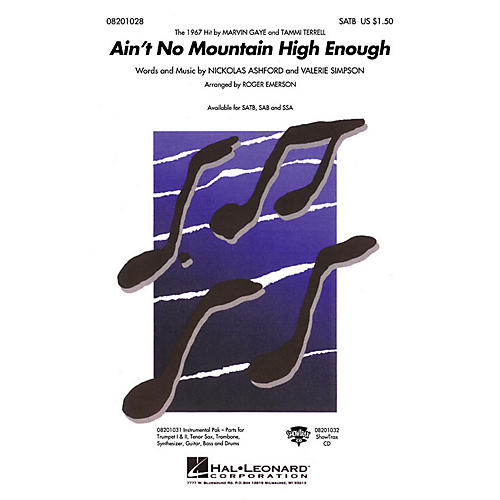 Hal Leonard Ain't No Mountain High Enough SSA by Marvin Gaye Arranged by Roger Emerson