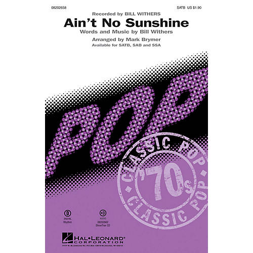 Hal Leonard Ain't No Sunshine ShowTrax CD by Bill Withers Arranged by Mark Brymer
