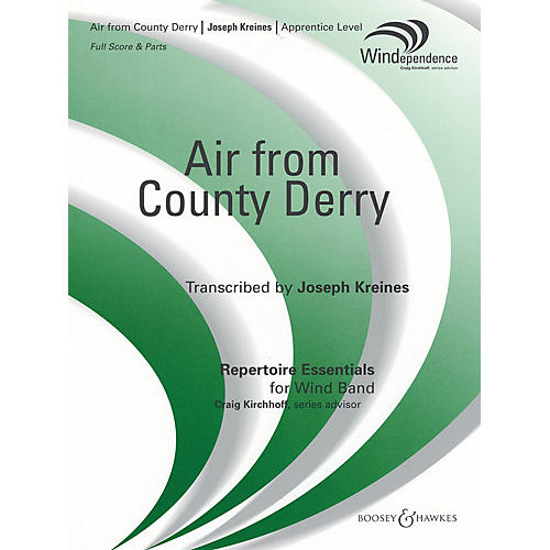 Boosey and Hawkes Air from County Derry (Score and Parts) Concert Band Composed by Joseph Kreines