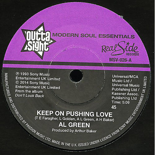 Alliance Al Green - Keep on Pushing Love / Your Heart's in Good Hands