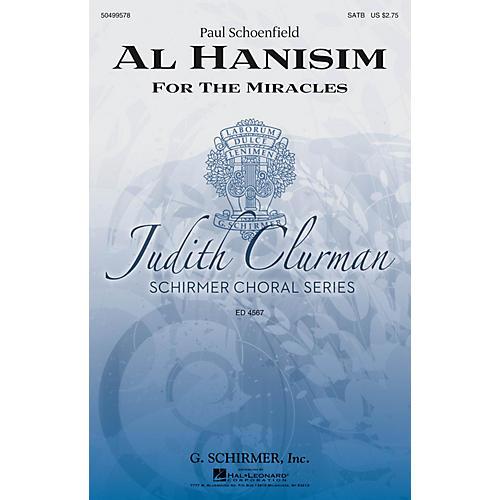 G. Schirmer Al Hanisim (Judith Clurman Choral Series) SATB composed by Paul Schoenfeld