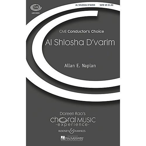 Boosey and Hawkes Al Shlosha D'varim (CME Conductor's Choice) SATB composed by Allan Naplan