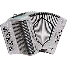 Alacran Accordion with case and straps White E/A/D