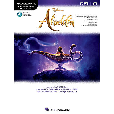 Hal Leonard Aladdin Instrumental Play-Along Series for Cello Book/Audio Online