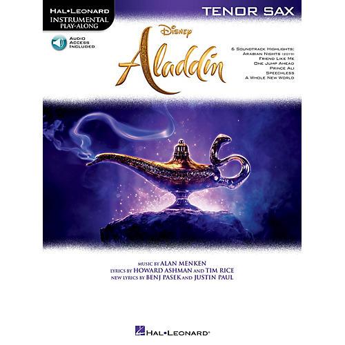 Hal Leonard Aladdin Instrumental Play-Along for Tenor Sax Book/Audio Online