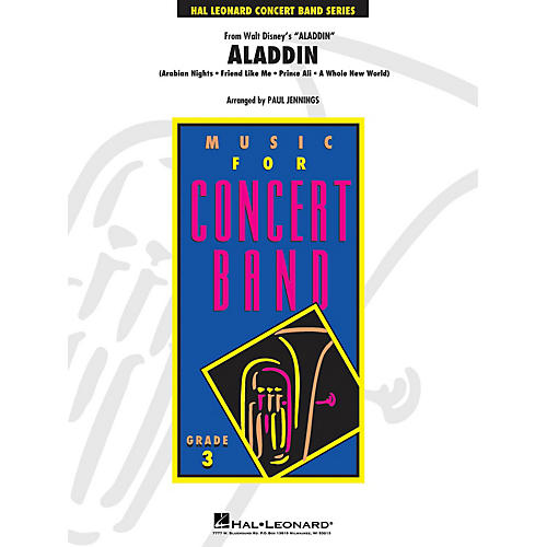 Hal Leonard Aladdin (Medley) - Young Concert Band Level 3 by Paul Jennings