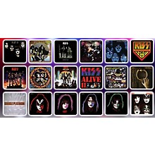 KISS Album Cover Coaster Set in Miniature Guitar Case - Convention Exclusive