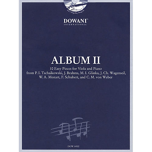 Dowani Editions Album Vol. II (Easy) Viola and Piano (10 Easy Pieces for Viola and Piano) Dowani Book/CD Series