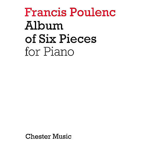 Chester Music Album of Six Pieces for Piano Music Sales America Series