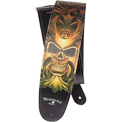 D'Addario Planet Waves Alchemy Leather Guitar Strap, Cryptorosa