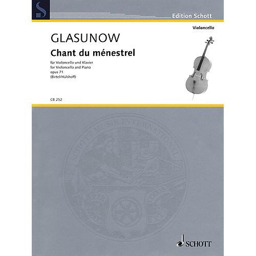 Schott Alexander Glazunov - Chant du ménestrel, Op. 71 (Cello and Piano) String Series Softcover