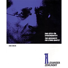 Ricordi Alexander Zemlinsky - Two Movements for String Quartet Ensemble Series Composed by Alexander Zemlinsky