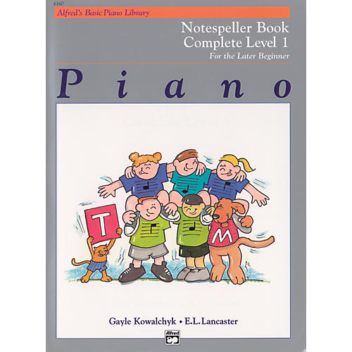 Alfred Alfred's Basic Piano Course Notespeller Book Complete 1 (1A/1B)