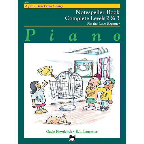 Alfred Alfred's Basic Piano Course Notespeller Book Complete 2 & 3