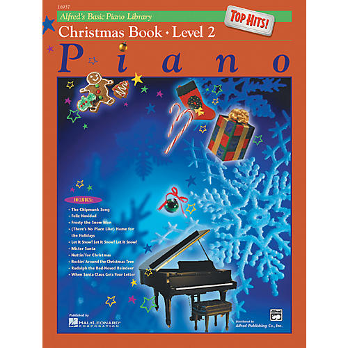 Alfred Alfred's Basic Piano Course Top Hits! Christmas Book 2