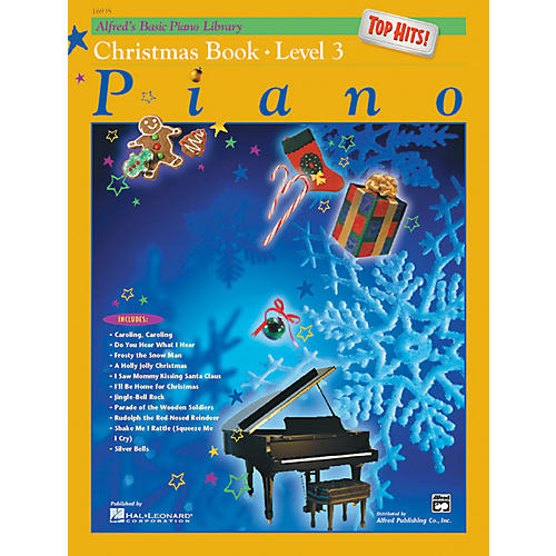 Alfred Alfred's Basic Piano Course Top Hits! Christmas Book 3