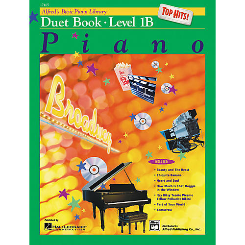 Alfred Alfred's Basic Piano Course Top Hits! Duet Book 1B