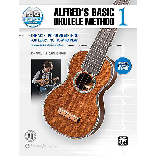 Alfred Alfred's Basic Ukulele Method 1 Book & Online Audio Beginner