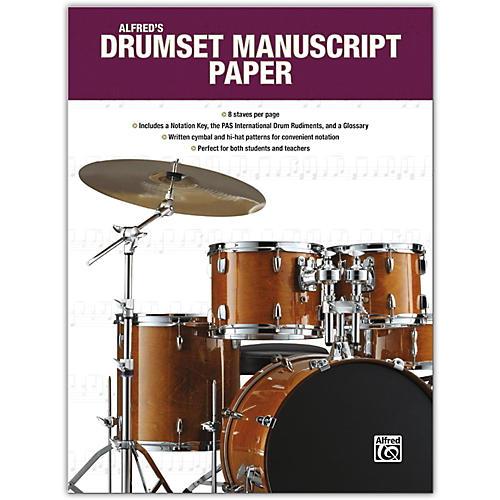 Alfred Alfred's Drumset Manuscript Paper, Book