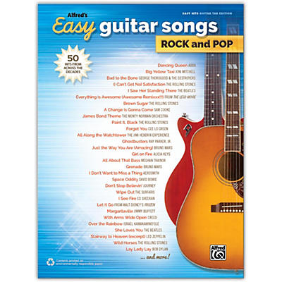 Alfred Alfred's Easy Guitar Songs: Rock and Pop, Easy Hits Guitar TAB Songbook