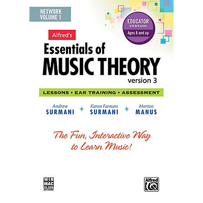 Alfred Alfred's Essentials of Music Theory: Software, Version 3 Network Version, Volume 1 (for 5 users)