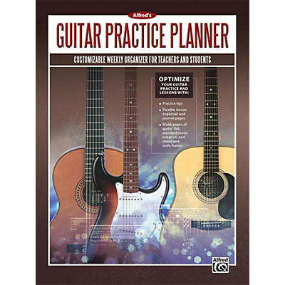 Alfred Alfred's Guitar Practice Planner Planner, Student Journal & Manuscript Paper Book