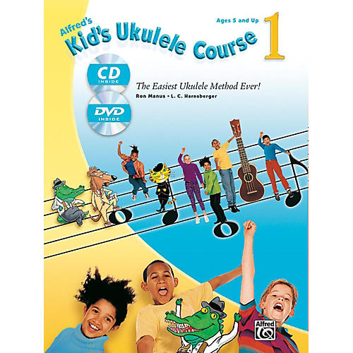 Alfred Alfred's Kid's Ukulele Course 1 Book, CD & DVD