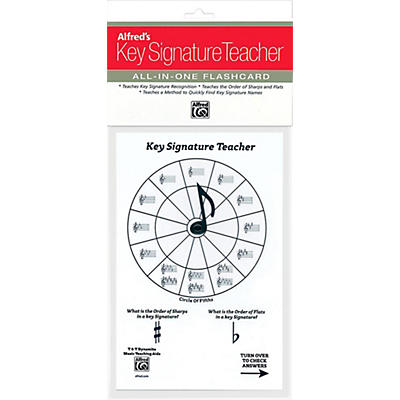 Alfred Alfred's Music Key Signature Teacher All-In-One Flashcard (White)