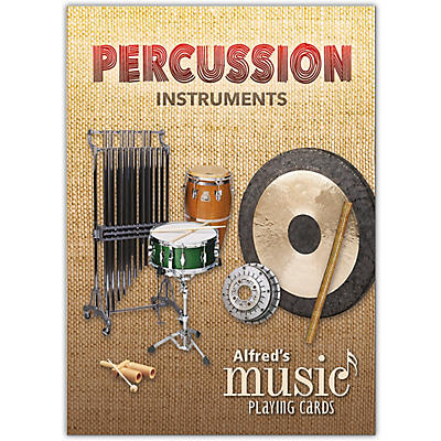 Alfred Alfred's Music Playing Cards: Percussion Instruments Card Deck (1 Pack)