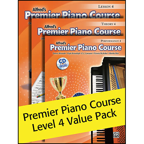 Alfred Alfred's Premier Piano Course 4 Value Pack