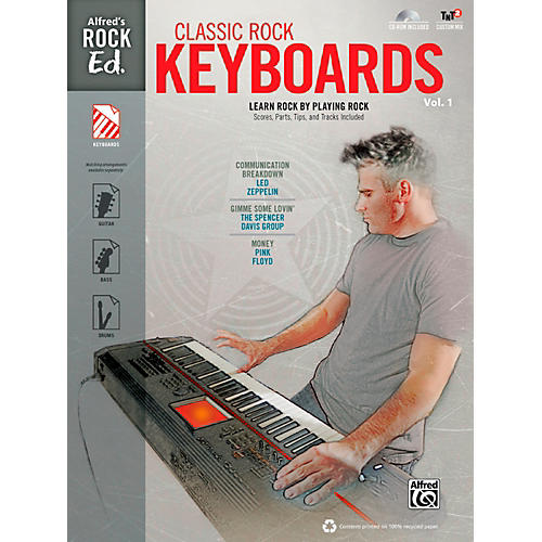 Alfred Alfred's Rock Ed.: Classic Rock Keyboards Vol. 1 Book & CD-ROM