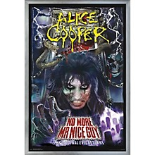 Alice Cooper - No More Mr. Nice Guy Poster Framed Silver