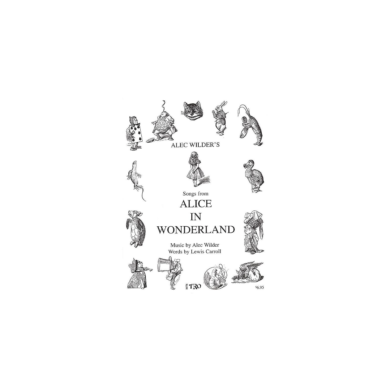 TRO ESSEX Music Group Alice in Wonderland (Music by Alec Wilder, Words by Lewis Carroll) Richmond Music ¯ Folios Series
