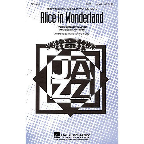 Hal Leonard Alice in Wonderland SATB a cappella arranged by Paris Rutherford
