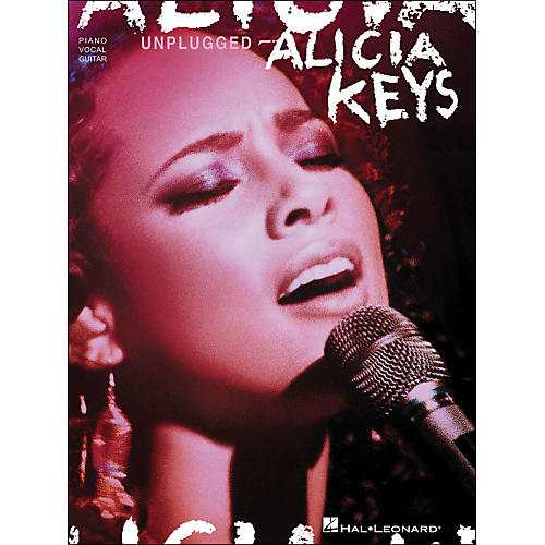 Hal Leonard Alicia Keys Unplugged arranged for piano, vocal, and guitar (P/V/G)