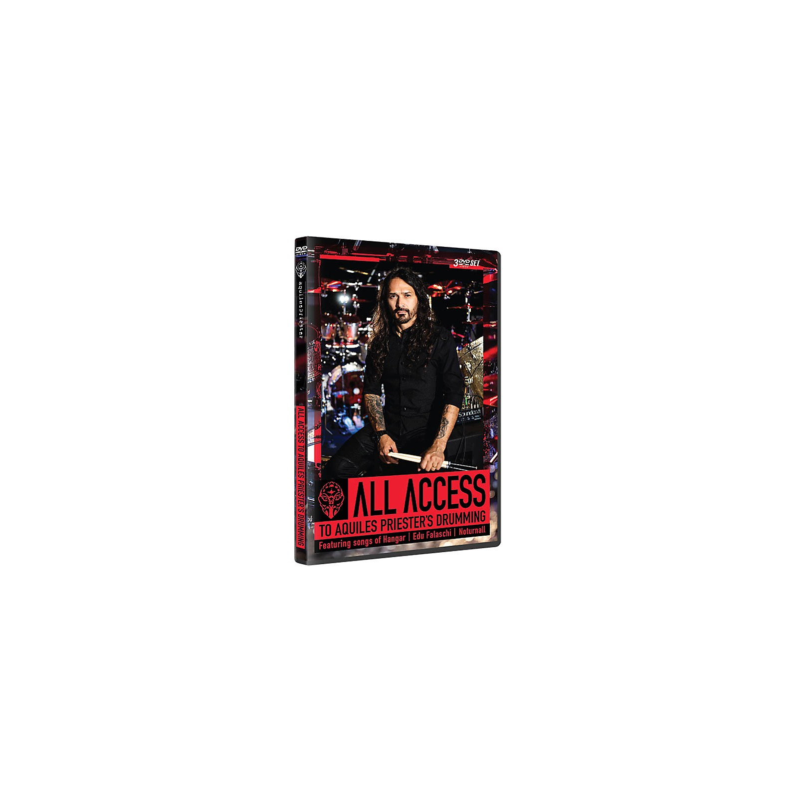 Hudson Music All Access to Aquiles Priester's Drumming Featuring Songs of Hangar, Edu Falaschi, Noturnall DVD
