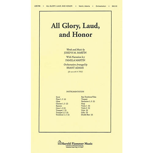 Shawnee Press All Glory, Laud and Honor (from A Time for Alleluia) Score & Parts arranged by Joseph M. Martin