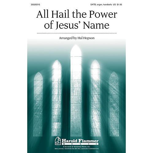 Shawnee Press All Hail the Power of Jesus' Name SATB, HANDBELLS arranged by Hal Hopson