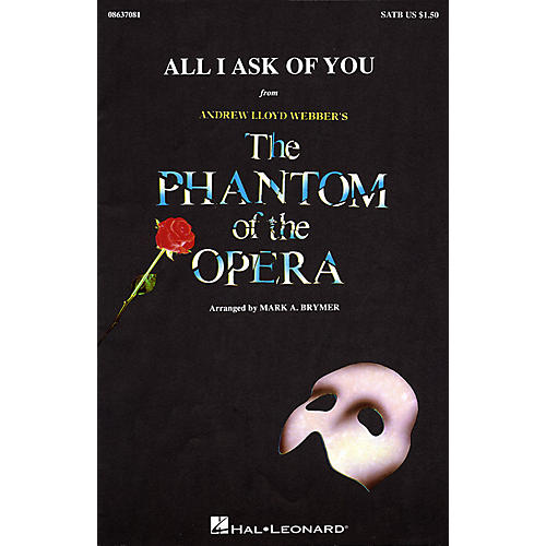 Hal Leonard All I Ask of You (SATB) SATB by Barbra Streisand arranged by Mark Brymer