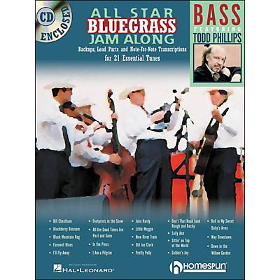 Homespun All Star Bluegrass Jam-Along for Bass Book/CD