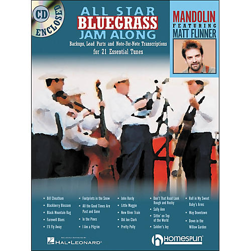 Homespun All Star Bluegrass Jam-Along for Mandolin Book/CD