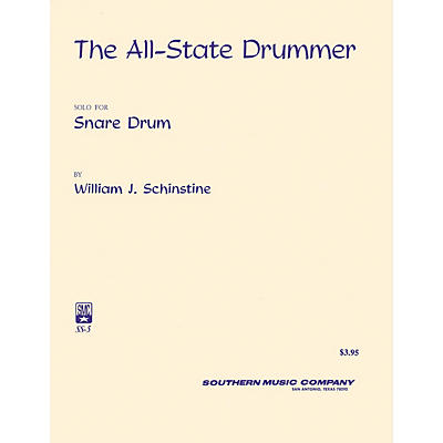 Southern All State Drummer (Percussion Music/Snare Drum Unaccompanied) Southern Music Series by Bournonville