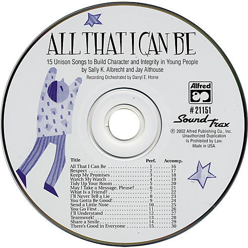 Alfred All That I Can Be SoundTrax CD