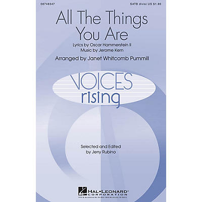 Hal Leonard All The Things You Are SATB Divisi arranged by Janet Whitcomb Pummill