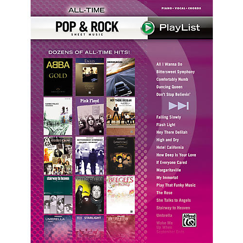 Hal Leonard All-Time Pop & Rock Hits Sheet Music Playlist Piano/Vocal/Chords
