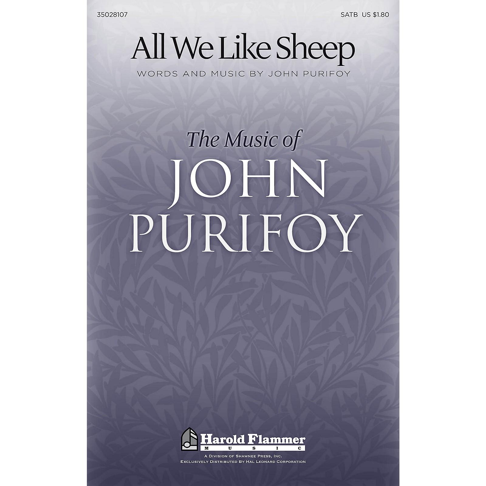 Shawnee Press All We Like Sheep SATB composed by John Purifoy