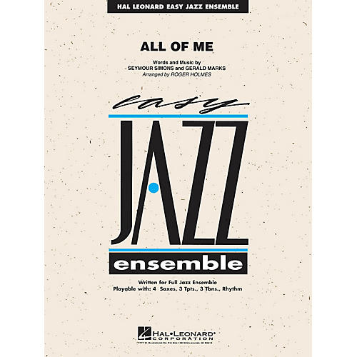 Hal Leonard All of Me Jazz Band Level 2 Arranged by R Holmes