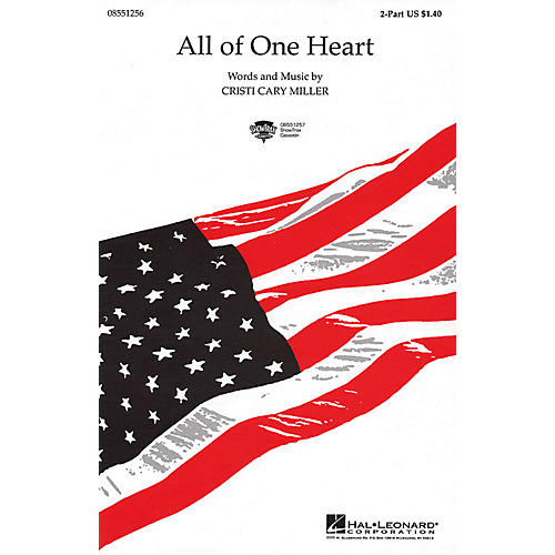 Hal Leonard All of One Heart 2-Part composed by Cristi Cary Miller