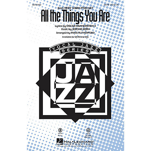 Hal Leonard All the Things You Are SATB arranged by Paris Rutherford
